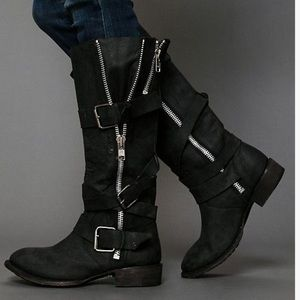 Dolce Vita buckle zippered boots size 9.5